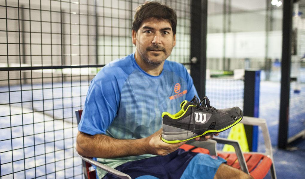 Cristian Gutiérrez, con las Wilson Rush Pro 2.5